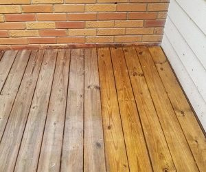 Deck Boards with One Side Pressure Washed Marietta GA