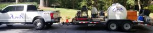 Marietta Pressure Washing truck with cleaning equipment