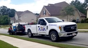 Work Truck and Trailer for Alpha Pressure Washing Marietta GA