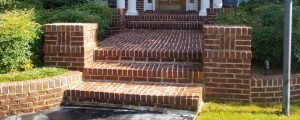 brick steps after cleaning