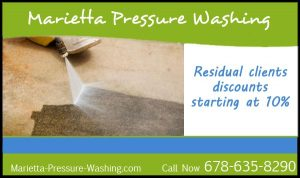 Marietta Pressure Washing. Residual Clients discounts starting at 10% Call Now 678-635-8290