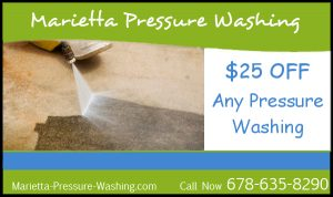 Marietta Pressure Washing $25 off any pressure washing coupon