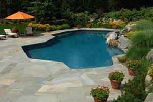 Swimming Pool With Stone Deck Marietta GA