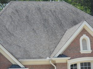 Dirty Roof on a House